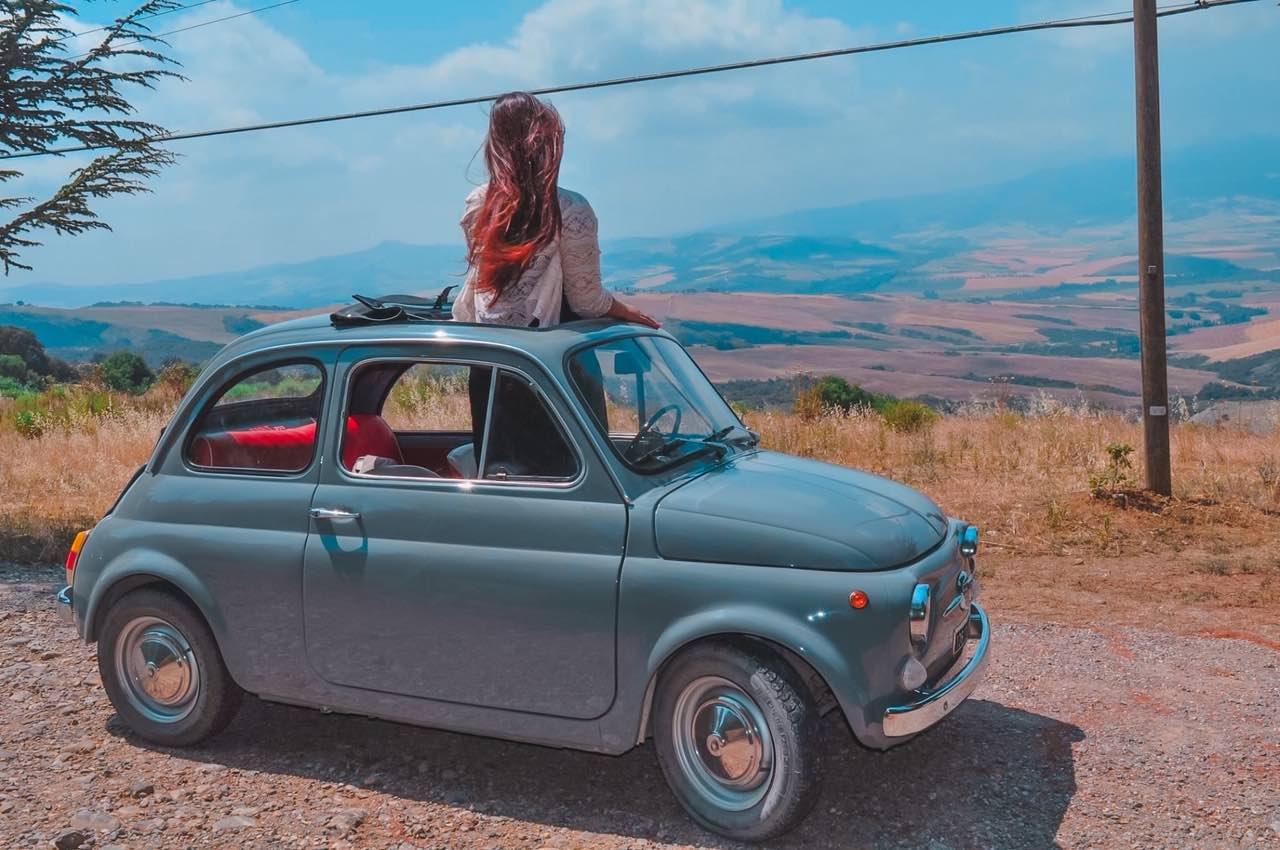 Val d'orcia Toscana 500 fiat