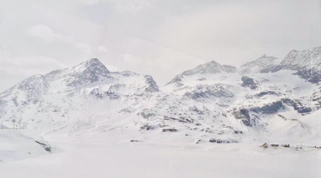 Bernina express in inverno