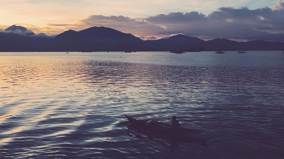 Puerto Princesa Baywalk tramonto