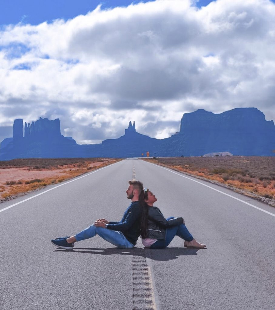 Forrest Gump Point Stati Uniti on the road