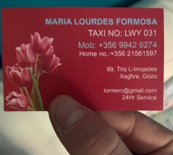 Come spostarsi a Gozo Malta autista numero