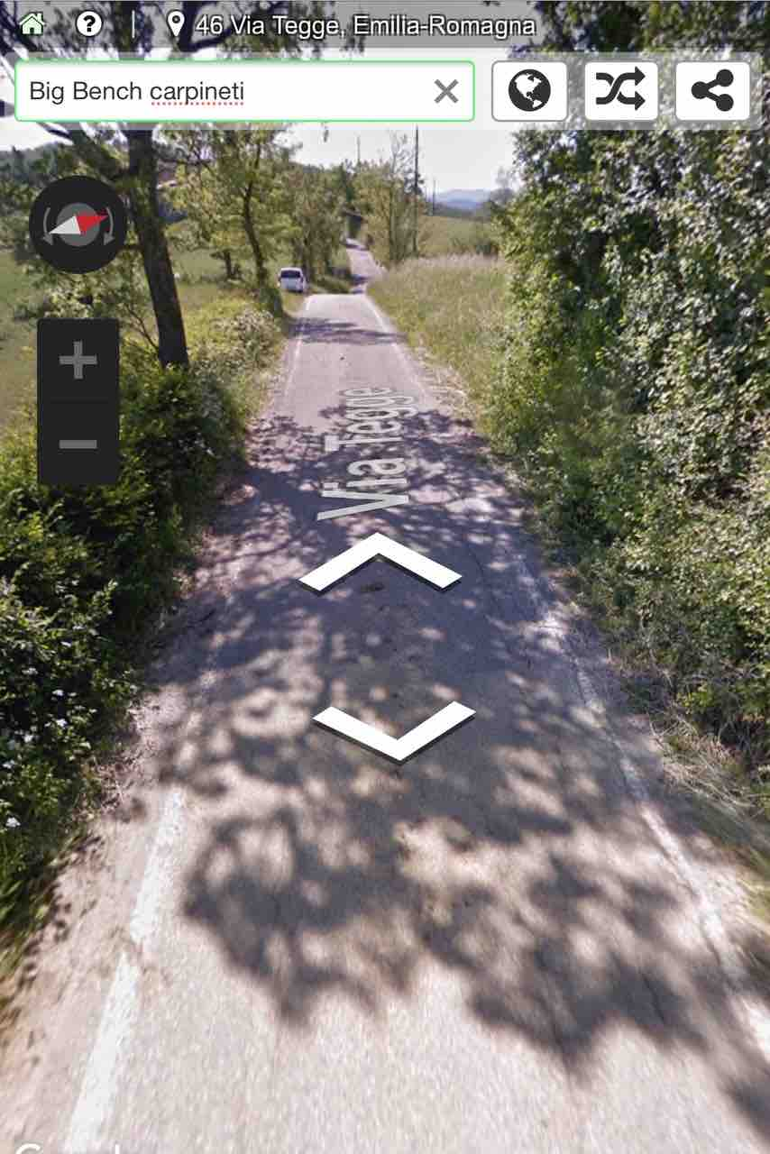 Dove parcheggiare panchine giganti Reggio Emilia