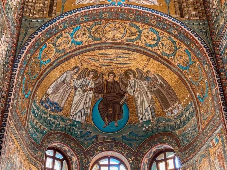 mosaico della cupola centrale della Basilica di San vitale a Ravenna