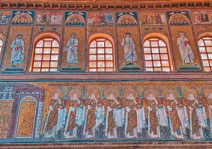 bellissimi mosaici a Sant'Apollinare nuovo da vedere a Ravenna in due giorni